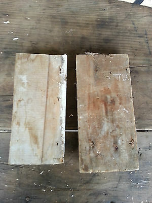 Antique Hand-carved ? Architectural Salvage Rosettes -chippy farmhouse #7 9