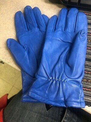 Women's Blue Gloves Wilson Leather Size L New With Tag 8