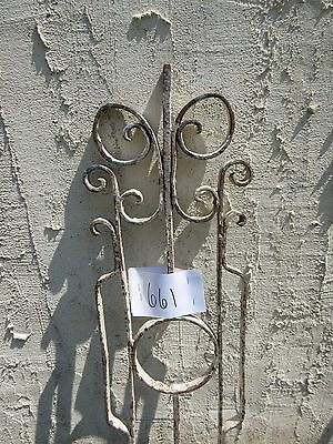 Antique Victorian Iron Gate Window Garden Fence Architectural Salvage Door #661 3