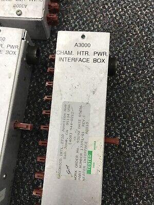 CHAM HTR PWR Interface Box 17391-01 , Gasonics Aura 3010 3000  AWD-D-3-11-4-002 2