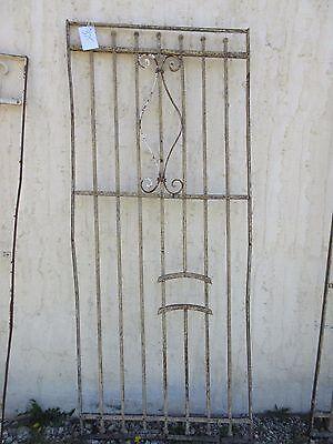 Antique Victorian Iron Gate Window Garden Fence Architectural Salvage Door #375 5