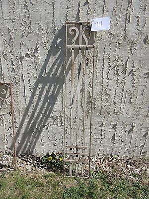 Antique Victorian Iron Gate Window Garden Fence Architectural Salvage Door #411 4