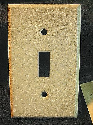 Vtg Lot 10 Sealed Nos Beige / Tan Textured Metal Wall Switch Plates & Screws 5