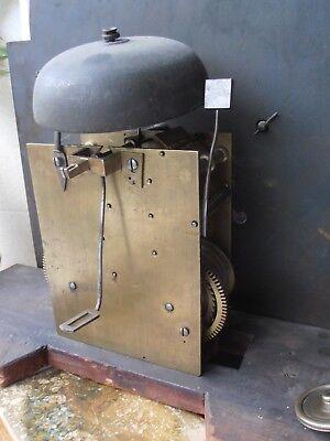 Antique 8 Day Brass Arch Dial Oak Grandfather Longcase Clock ALEX GORDON DUBLIN 9