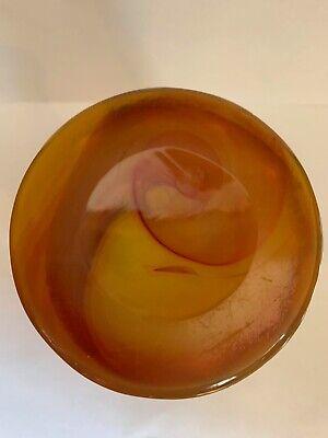 Lithyalin_Glasbecher_Böhmen_gelb/oranges marmoriertes Glas_Egerman_1830-1850 10