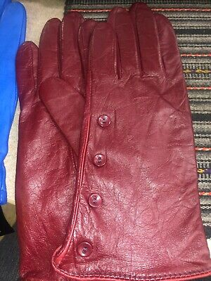Women's Blue Gloves Wilson Leather Size L New With Tag 2