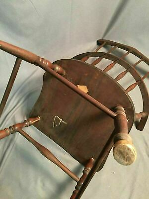 Antique Spindle Back Bow Wood Chair Made In USA 5