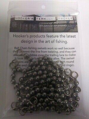 50 pack of PINK BALL CHAIN SWIVEL BEAD #10  110# test  catfish blue cat carp