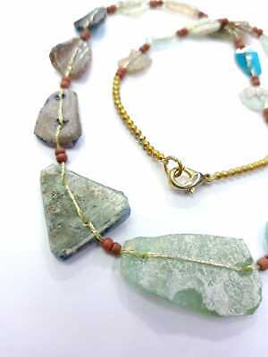 Afghan Antique Ancient Rare Roman Glass Beads Necklace Jewelry Handmade Vintage 3