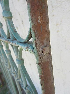 Antique Victorian Iron Gate Window Garden Fence Architectural Salvage Door #380 7