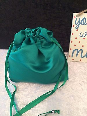 PLAIN DOLLY BAG BRIDAL BRIDESMAID FLOWER GIRL BNIP ASS. COLS. ** free samples** 11