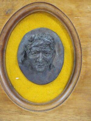 "Vintage Don Staats Bronce Pared Escultura ""The Caballo Trader 1973 Número 18/50 2"