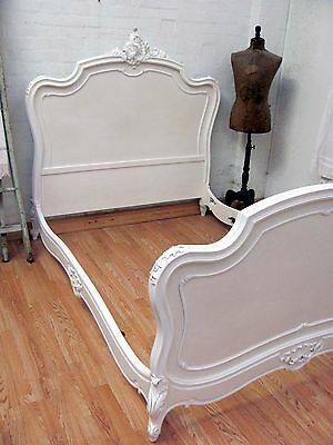 Stunning Antique French Double Rococo Crested Bed - C1920 12