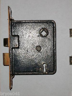 Antique Art Nouveau Mortise Lock and Backpates 3