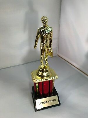 Dundie Trophy Award The Office Tv Dunder Mifflin Dundee 10 1 2 Dunde New 14 75 Picclick Uk