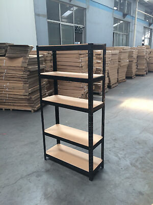 Garage Shed 5 Tier Racking Storage Shelving Units Boltless Heavy Duty Shelves 5