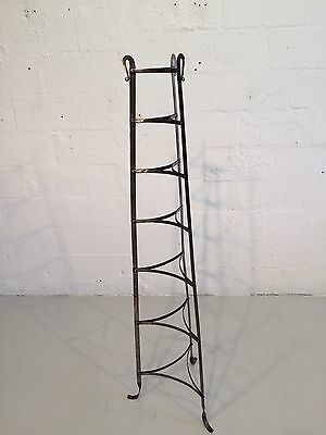 industrial hand-forged plant stand mixing bowl rack shelf 1930s metal 7