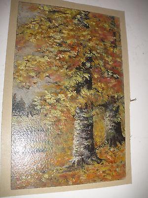 Vintage antique  19/20thc oil painting landscape mystery artist 3