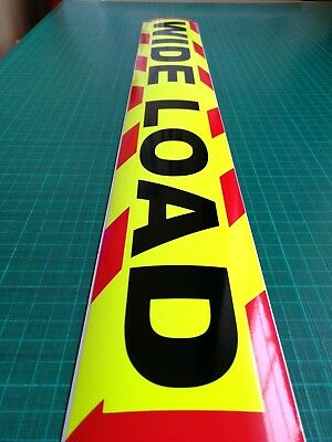 WIDE LOAD MAGNET MAGNETIC Lorry Truck Trailer long CHEVRON Towing Volvo DAF x 1 5