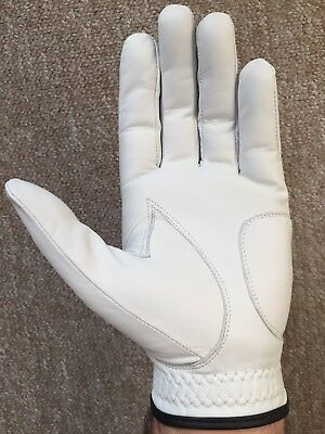 SG PACK OF 5 Men white Cabretta Leather Golf gloves Right & Left hand available 4