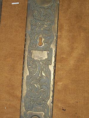 Antique RHCo Belfort Door Knob Backplates 3