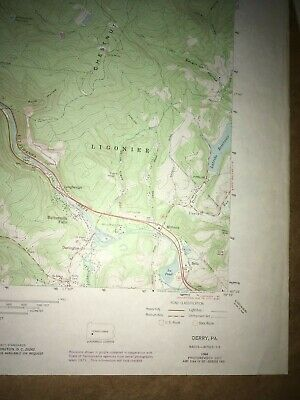 Derry Pa.Westmoreland County USGS Topographical Geological Survey Quadrangle Map 5