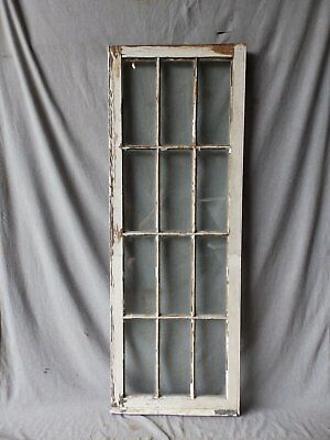 Antique French Door Window Cabinet Bookcase Casement Vtg Shabby 61x22 186-17P 7