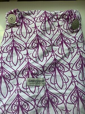Used ~Mikayla Pattern Baby Carseat Cover Canopy Couture Brand~ Excellent Cond 2