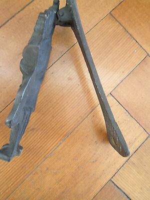 Old Brass bag pipe player door knocker 4