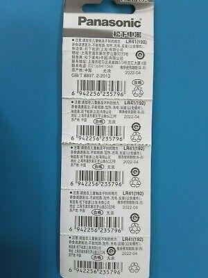 2 pecs PanaSonic LR41 Alkaline Batteries 1.5V known as AG3 SR41SW, 392 EXP. 2022 2