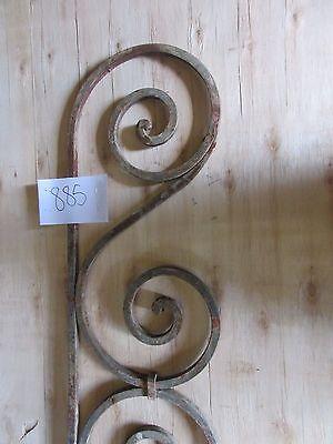 Antique Victorian Iron Gate Window Garden Fence Architectural Salvage #885 3