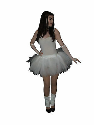White Neon Tutu Skirt 80S Hen Party Bridal Baby Toddler Girls Wedding Plus Size 2