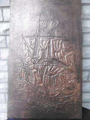 Großer ,schwerer orig.maritimer Kuperstich vom Segelschiff,gemarkt