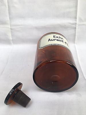 alte Apothekerflasche Braunglas Gefäß Apotheke 22cm Extr. Aurant.fl. #95 5