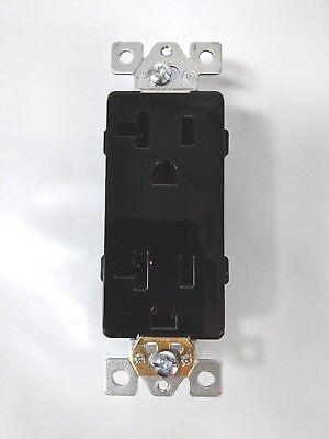 (20 pc) Decorator Duplex 20A Receptacles 20 Amp Decora Outlets Black Commercial 2
