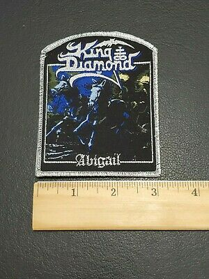 King Diamond Abigail band Metallic Sliver Patch, Iron on Clothing Woven Badge 2