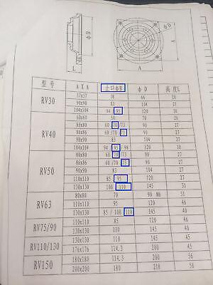 Gearbox NMRV30 Turbo-Worm Gear Reducer Ratio 1:5 Square Flange for NEMA23 6