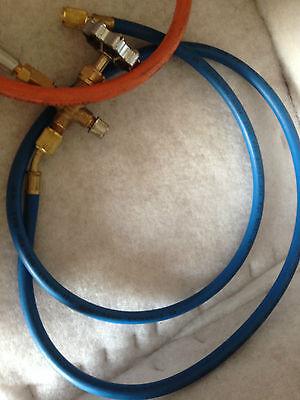 Propane Lpg Tank Gas Adaptor Hose For Refrigeration A/c Orange Hose Only 6