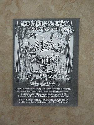 "Lamb of God Scrament  RARE Luggage 4"" Sticker PROMO 2006"