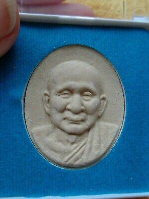 Thai Cased L.p. Koon Amulet /  Charm Original Temple Case 4