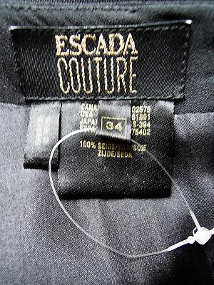 Kleid Abendkleid Escada Couture Gr. 36 schwarz weiß Pailletten edel LUXUS PUR 6