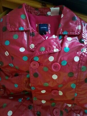 Baby GAP Girl's Red Spotted Raincoat - SIZE 3yrs 4
