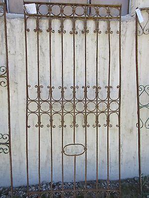Antique Victorian Iron Gate Window Garden Fence Architectural Salvage Door #381 5