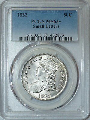 1832 PCGS MS63+ Bust Half, brilliant luster, strong detail & great eye appeal 3