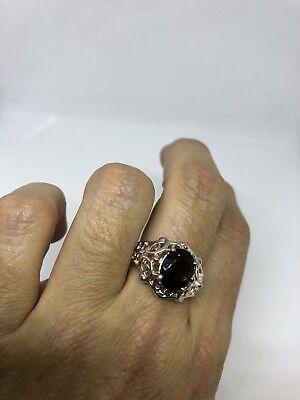 Vintage Genuine Smoky Topaz Deco 925 Sterling Silver Ring 9