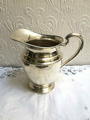 Vintage Mid Century PSCO Preisner Silver Co. Silverplate On Copper Water Pitcher 2