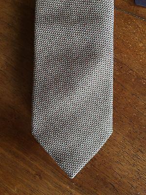 ee475c1f2d ... Cravatta uomo PRADA MILANO grigia beige cotone nuova cartellino 5