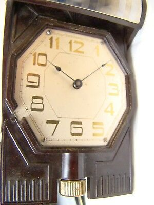 Antique Rare Waltham Crescent St Lever Set Bakelite 21 Jewel Watch Clock Working 11