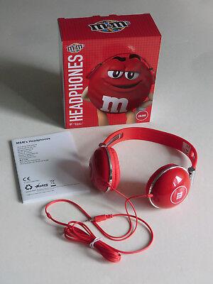 M&M M&M's  STEREO HEADPHONES iKopfhörer n RED rot  NEU OVP siehe Fotos