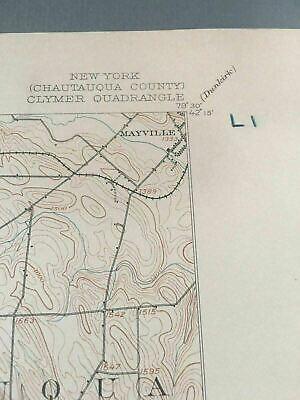 US Geological Survey Topography Map,1905 Quadrangle Clymer New York 3